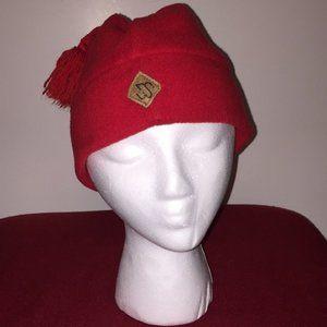 Merkley Unisex Red Skull Cap/Beanie w/Tassel